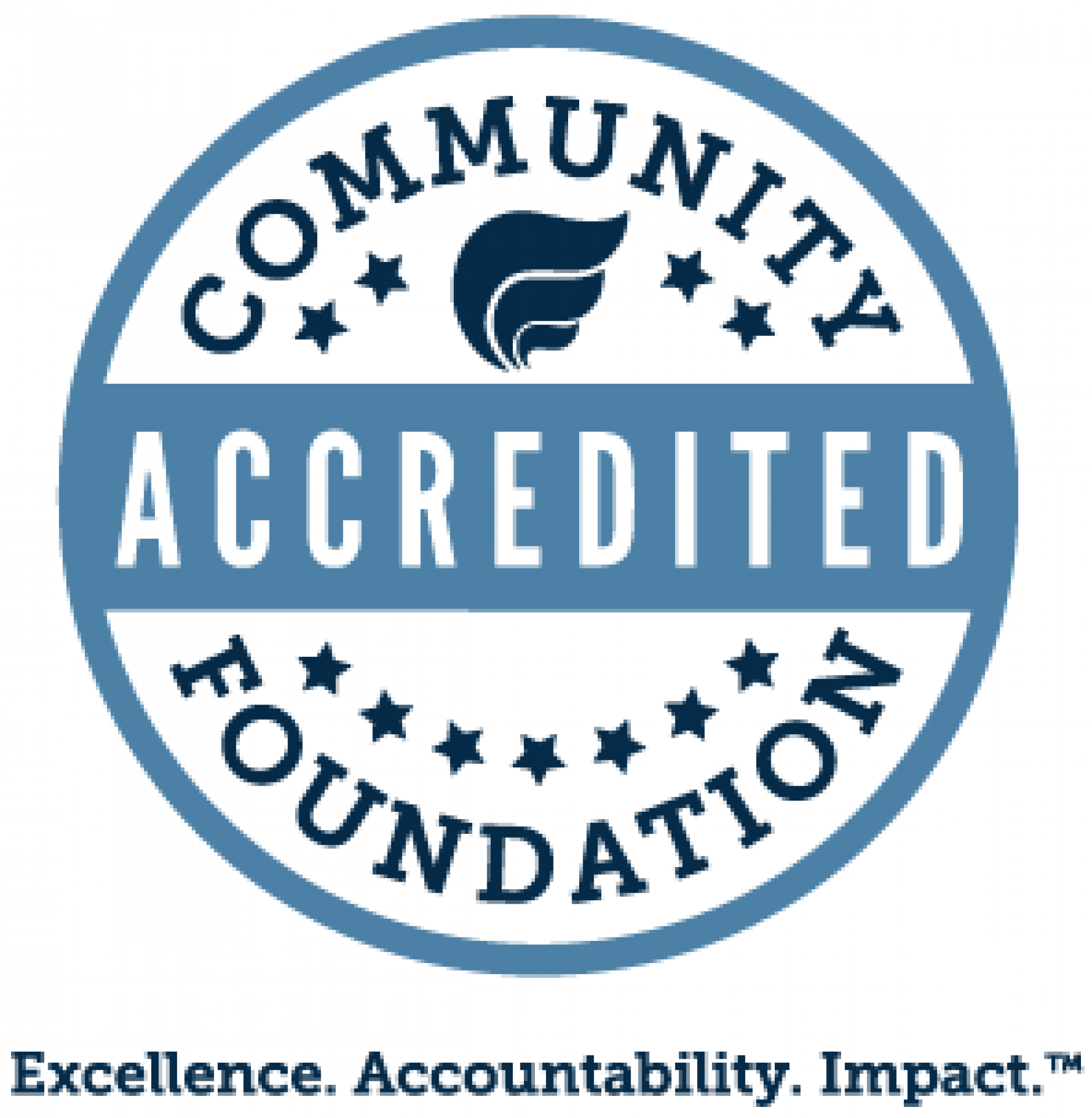 Accreditation seal for the Community Foundation of Sarasota County